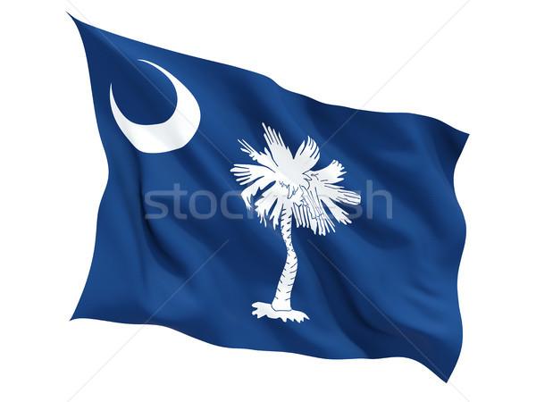 Flag of south carolina, US state fluttering flag Stock photo © MikhailMishchenko