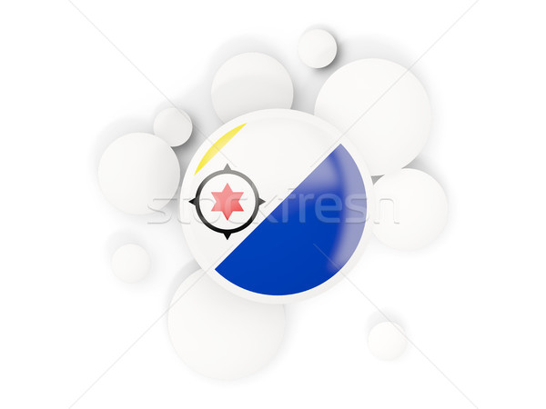 Round flag of bonaire with circles pattern Stock photo © MikhailMishchenko
