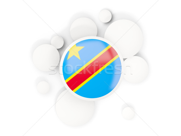 Round flag of democratic republic of the congo with circles patt Stock photo © MikhailMishchenko