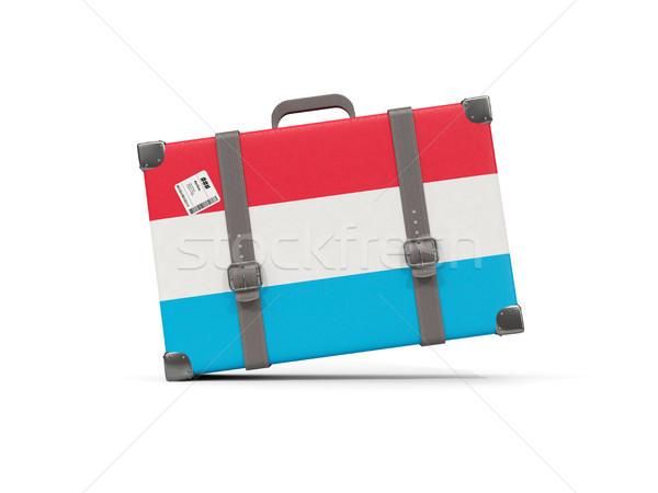 Bagage vlag Luxemburg koffer geïsoleerd witte Stockfoto © MikhailMishchenko