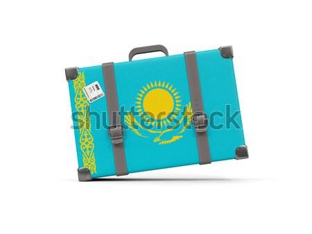 荷物 フラグ パラオ スーツケース 孤立した 白 ストックフォト © MikhailMishchenko