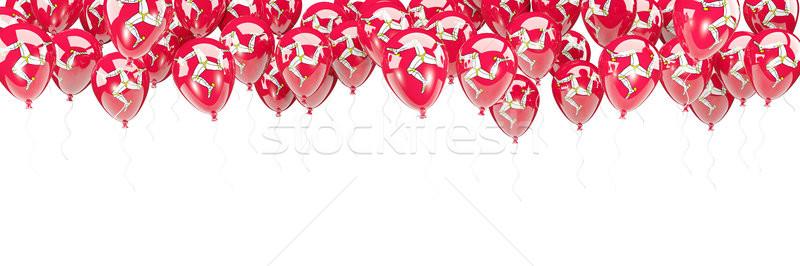 Balloons frame with flag of isle of man Stock photo © MikhailMishchenko