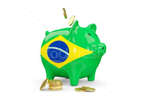 脂肪 貯金 ブラジル お金 孤立した 白 ストックフォト © MikhailMishchenko