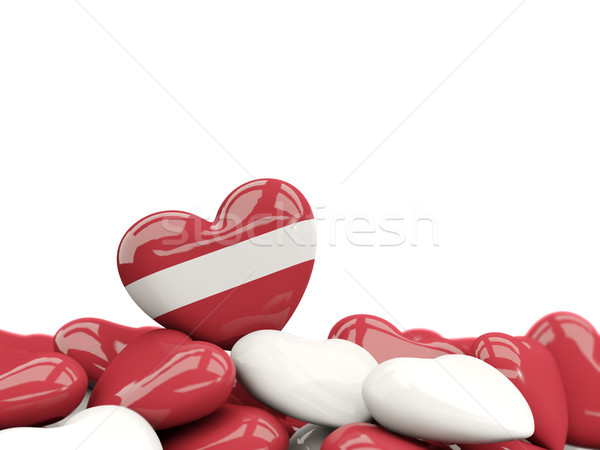 Kalp bayrak Letonya üst kalpler yalıtılmış Stok fotoğraf © MikhailMishchenko