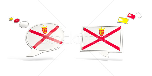 Two chat icons with flag of jersey Stock photo © MikhailMishchenko