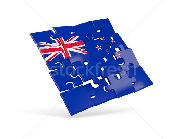 Puzzle zászló Új-Zéland izolált fehér 3d illusztráció Stock fotó © MikhailMishchenko
