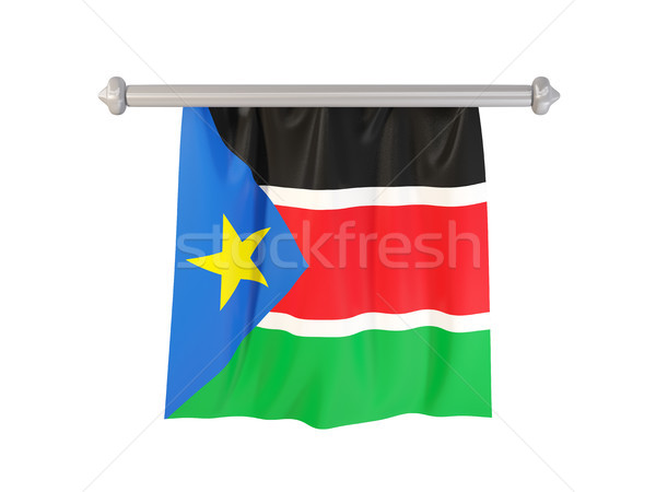 Vlag zuiden Soedan geïsoleerd witte 3d illustration Stockfoto © MikhailMishchenko
