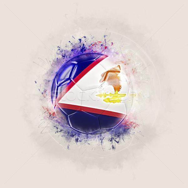 Grunge futebol bandeira Samoa Americana ilustração 3d mundo Foto stock © MikhailMishchenko