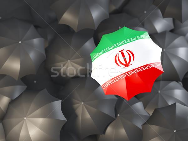 傘 フラグ イラン 先頭 黒 傘 ストックフォト © MikhailMishchenko