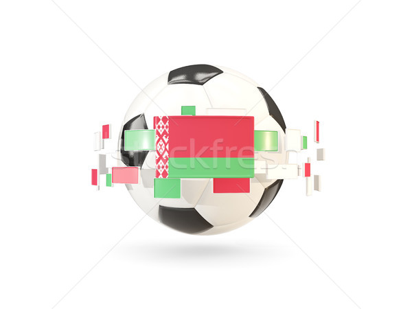 Soccer ball with line of flags. Flag of belarus Stock photo © MikhailMishchenko
