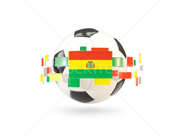футбольным мячом линия флагами флаг Боливия Сток-фото © MikhailMishchenko