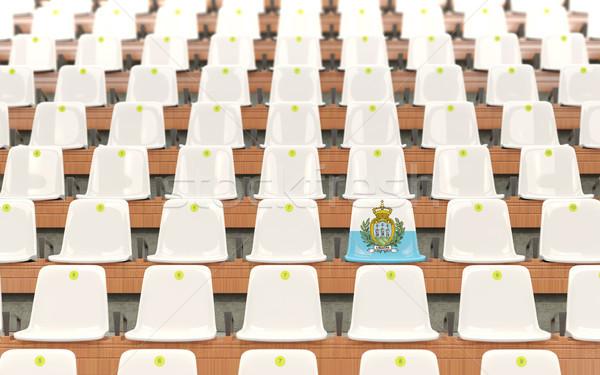стадион сиденье флаг Сан-Марино белый Сток-фото © MikhailMishchenko