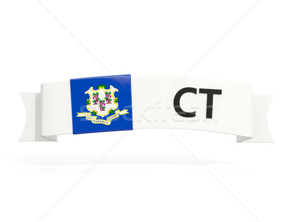 connecticut state flag on banner with postal abbreviation isolat Stock photo © MikhailMishchenko