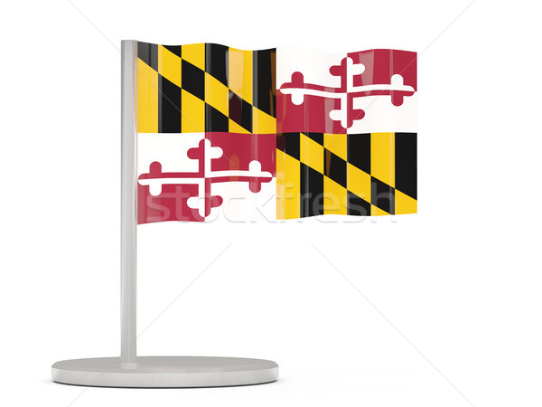 Bandera pin Maryland Estados Unidos local banderas Foto stock © MikhailMishchenko