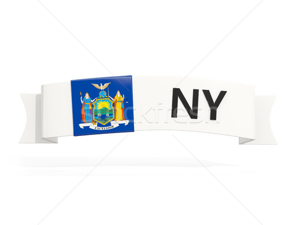 new york state flag on banner with postal abbreviation isolated  Stock photo © MikhailMishchenko