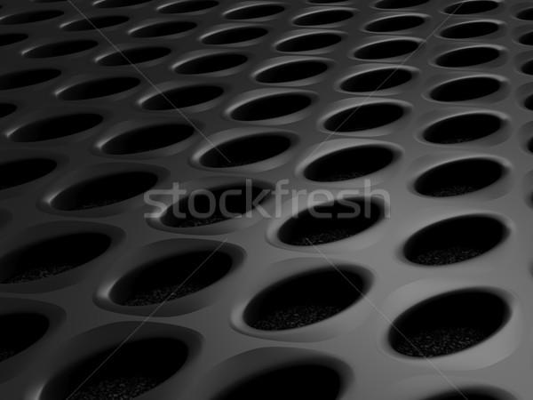 Czarny metal Język przemysłowych stali drutu Zdjęcia stock © MikhailMishchenko