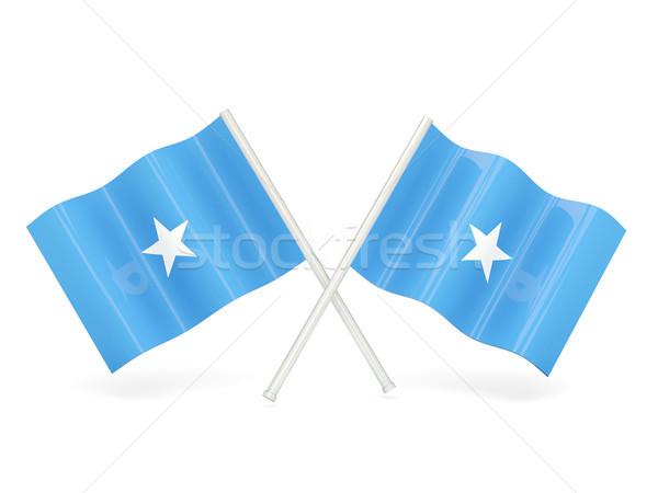 флаг Сомали два волнистый флагами изолированный Сток-фото © MikhailMishchenko