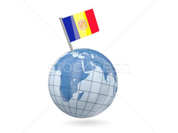 мира флаг Андорра синий изолированный белый Сток-фото © MikhailMishchenko