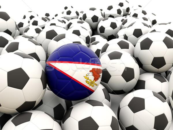 Futebol bandeira Samoa Americana regular esportes Foto stock © MikhailMishchenko