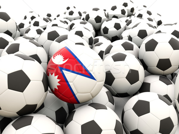 футбола флаг Непал регулярный лет Сток-фото © MikhailMishchenko