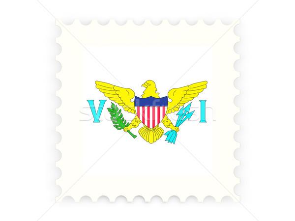 почтовая марка икона США Виргинские о-ва изолированный белый Сток-фото © MikhailMishchenko