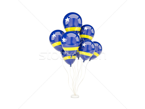 Flying balloons with flag of curacao Stock photo © MikhailMishchenko