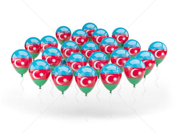 Balony banderą Azerbejdżan odizolowany biały kraju Zdjęcia stock © MikhailMishchenko