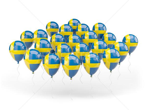 Ballonnen vlag Zweden geïsoleerd witte reizen Stockfoto © MikhailMishchenko