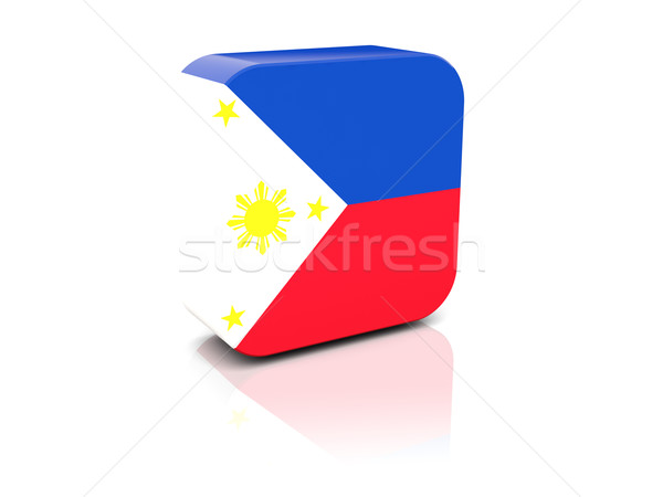 Square icon with flag of philippines Stock photo © MikhailMishchenko