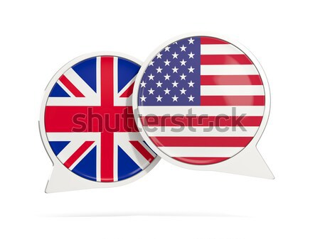 Round icon of flag of british indian ocean territory Stock photo © MikhailMishchenko