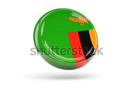 икона флаг Замбия изолированный белый путешествия Сток-фото © MikhailMishchenko
