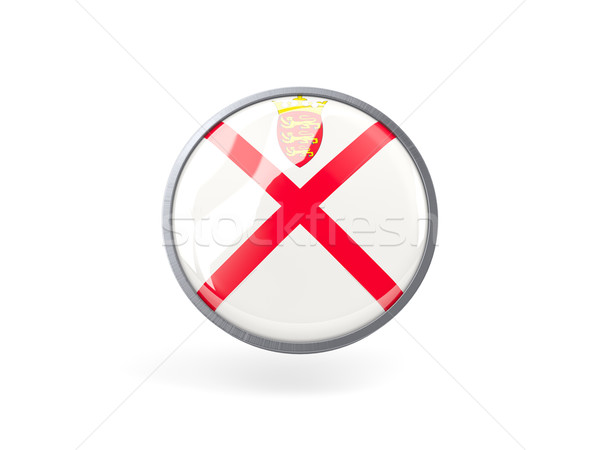 Round icon with flag of jersey Stock photo © MikhailMishchenko