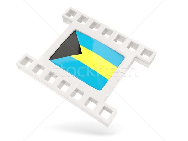 Filme ícone bandeira Bahamas isolado branco Foto stock © MikhailMishchenko