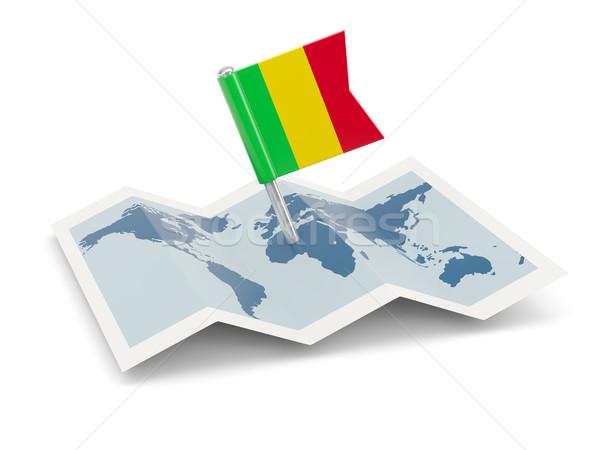 Harita bayrak Mali yalıtılmış beyaz Stok fotoğraf © MikhailMishchenko