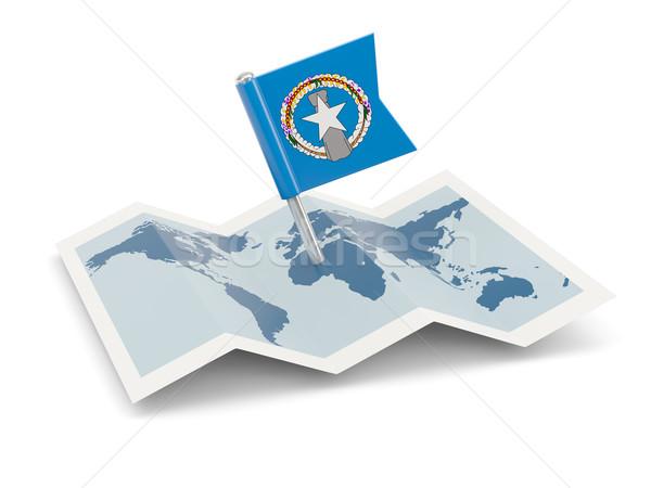 地図 フラグ 北方 島々 孤立した 白 ストックフォト © MikhailMishchenko