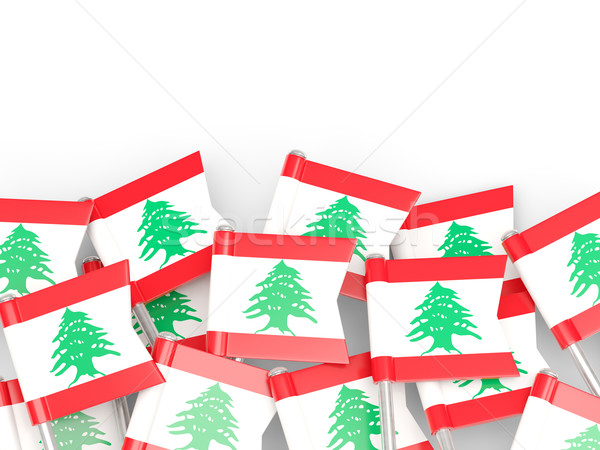 флаг Pin Ливан изолированный белый фон Сток-фото © MikhailMishchenko