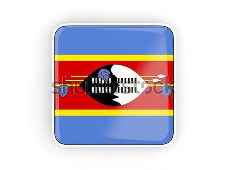 Placu ikona banderą Suazi metal ramki Zdjęcia stock © MikhailMishchenko