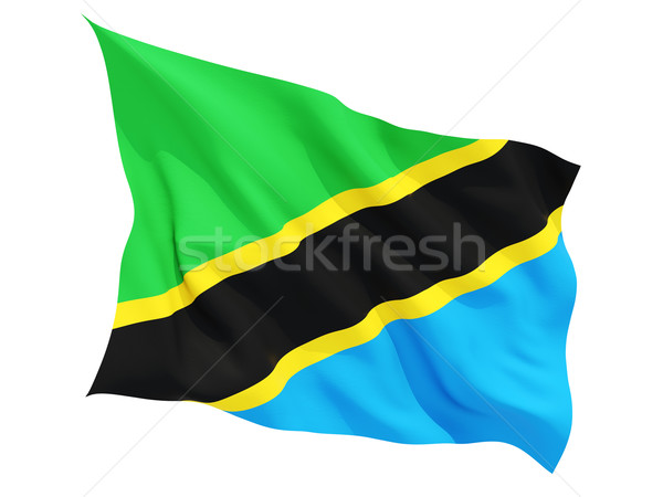 флаг Танзания изолированный белый Сток-фото © MikhailMishchenko