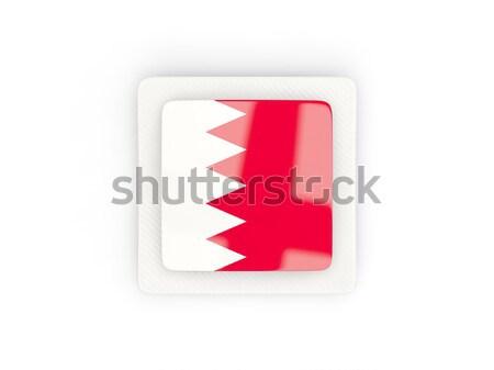 Banderą etykiety Katar odizolowany biały świat Zdjęcia stock © MikhailMishchenko