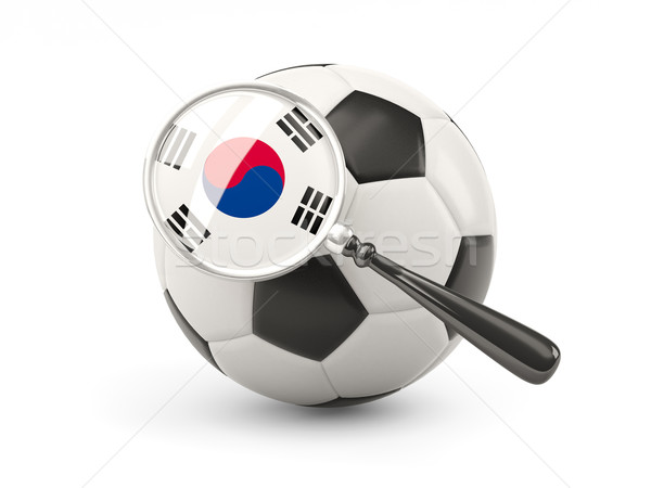 Football with magnified flag of south korea Stock photo © MikhailMishchenko