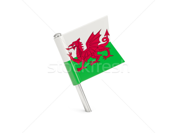 Flag pin of wales Stock photo © MikhailMishchenko