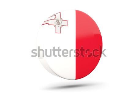 Icona bandiera Malta lucido segno bianco Foto d'archivio © MikhailMishchenko