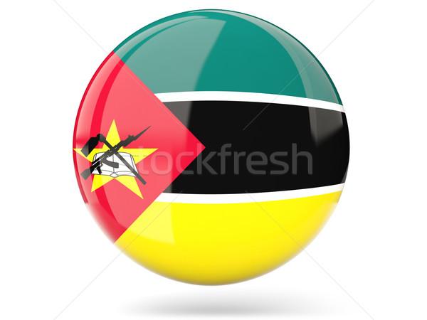ícone bandeira Moçambique assinar branco Foto stock © MikhailMishchenko