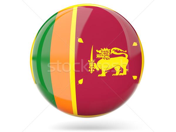 Ikon zászló Sri Lanka fényes felirat fehér Stock fotó © MikhailMishchenko