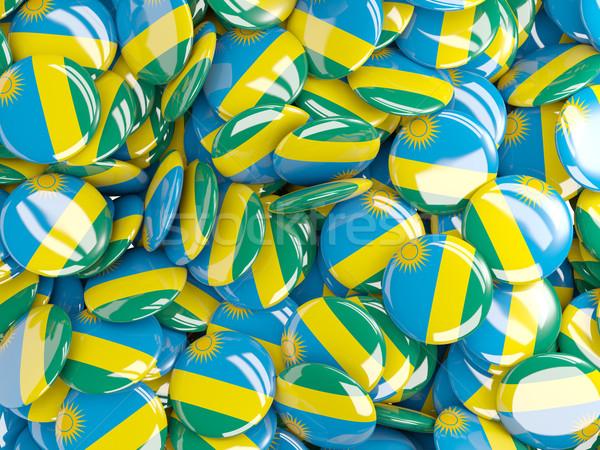 Background with round pins with flag of rwanda Stock photo © MikhailMishchenko