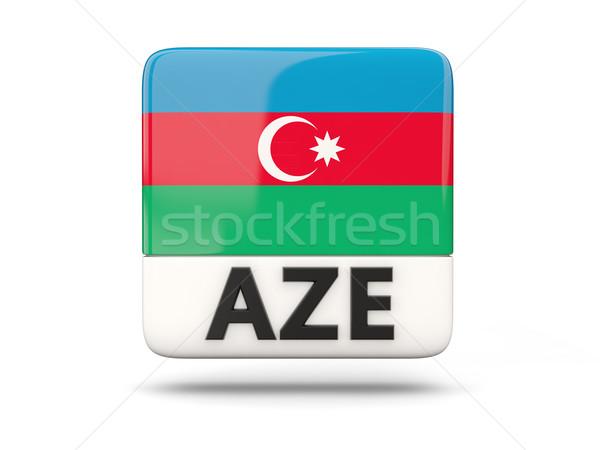 Cuadrados icono bandera Azerbaiyán iso código Foto stock © MikhailMishchenko