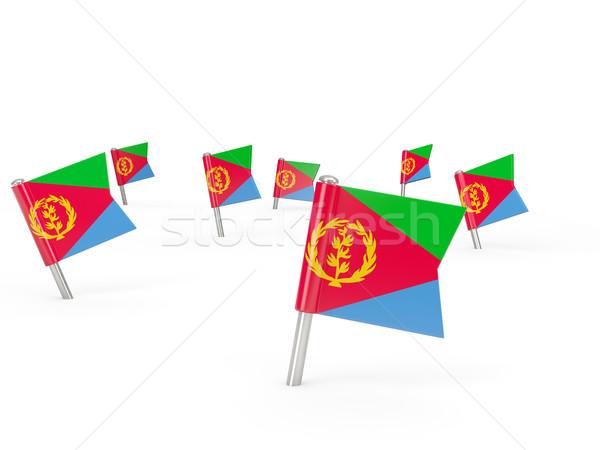 Placu banderą Erytrea odizolowany biały kraju Zdjęcia stock © MikhailMishchenko
