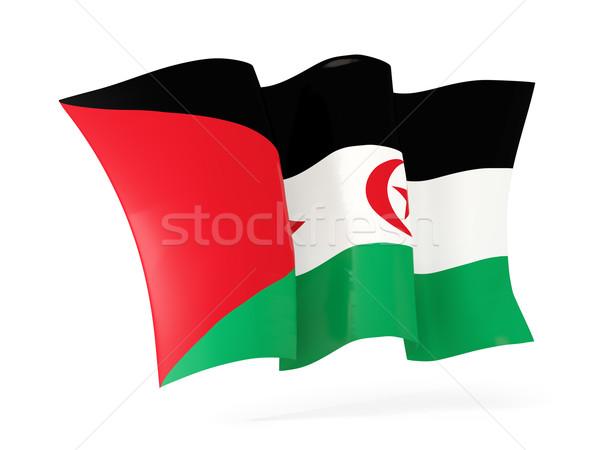 Vlag westerse sahara 3d illustration geïsoleerd Stockfoto © MikhailMishchenko