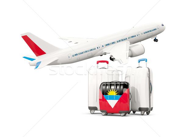 荷物 フラグ 3  袋 飛行機 孤立した ストックフォト © MikhailMishchenko