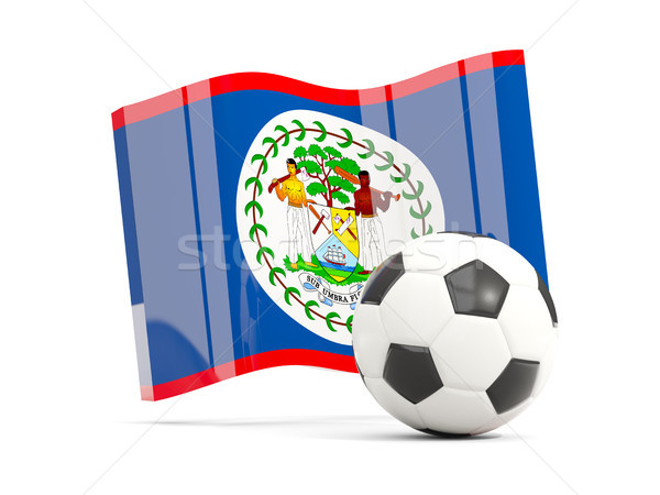 Futball integet zászló izolált fehér 3d illusztráció Stock fotó © MikhailMishchenko